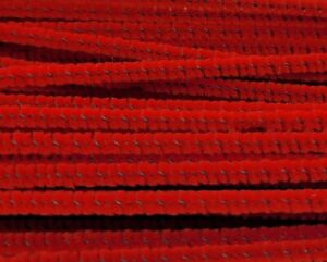 """Box of 100 Darice Red Wired Chenille Stems Craft Pipe Cleaners 12"""" x 3mm 1/8"""""""