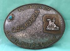 VTG 1989 *ARHA ARIZONA* Reining Horse Western Cowboy CHAMPION TROPHY BELT BUCKLE