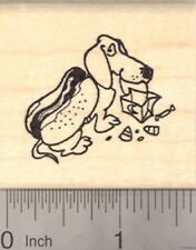 Halloween Dachshund Dog Rubber Stamp in Hot Dog Costume E22316  WM