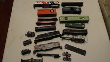 Lot of HO Scale Diesel Locos shells train cars Parts/Repair Tyco Athearns