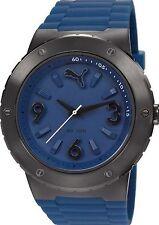 NEW Puma Time PU103331003 Unisex Blast Series Blue Rubber Black Sport Watch 100m