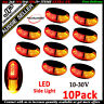 10X LED CLEARANCE LIGHTS SIDE MARKER LAMP RED AMBER TRAILER TRUCK LORRY 10-30V