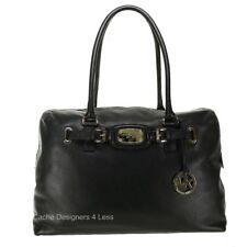 New Michael Kors Hamilton Weekender Leather Black Bag Handbags
