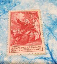 3 Cent Benjamin Franklin 250th Anniversary Single Stamp Scott #1073 1956