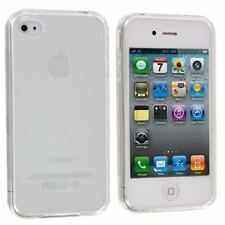 For Apple iPhone 4 4S Ultra Thin Clear Crystal Rubber TPU Soft Case Cover
