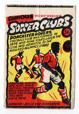 Anglo-American Gum Bell Boy wax wrapper Famous Soccer Clubs #56 Doncaster Rovers