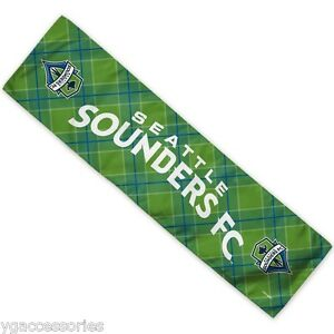 """MLS Seattle Sounders FC Wincraft 12"""" X 30"""" Cooling Towel NEW!"""