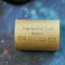 $10.00 Silver Liberty Walking Half Roll From The First Bank Of Denver