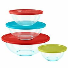 Mixing Bowls With Lids Pyrex 8-Piece Microwave Safe BPA Free Non Porous