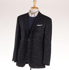 NWT $7795 KITON Black Melange Check 100% Cashmere Sport Coat 38 R (Eu 48) 'Lasa'