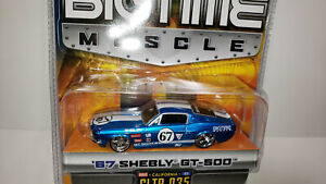 Jada Bigtime Muscle, 67 Shelby GT500, Blue with white stripes!, New in package