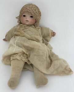 """Rare Antique 14"""" Armand Marsielle Bisque Baby Doll GERMANY made👀 From The 1800s"""