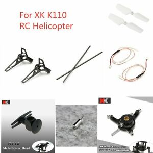 XK K110 Parts Tail Boom/Tail Brushless Motor/Tail Motor Base/Metal Swashplate
