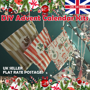 DIY Advent Calendar. UK Seller. Christmas. Make your Own Kit! Flat Rate Postage