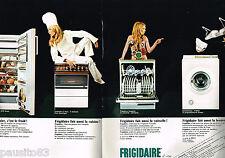 PUBLICITE ADVERTISING 065  1969  FRIGIDAIRE   lave vaisselle lave -linge  ( 2p)