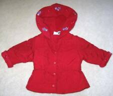 INFANT Baby GIRLS size 12 months MACYS 12M RED DRESSY COAT Christmas jacket