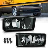 for 2007-2013 Chevy Silverado 1500 Tahoe Smoke Bumper Fog Light Lamps Left+Right