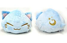 FuRyu Nemuneko Cute Fluffy Moon Star Neko Cat Big Cushion Plush AMU7508 ~ Blue