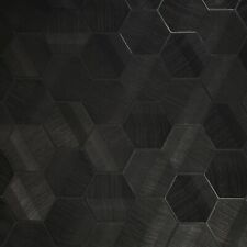 Lamborghini Murcielago Hexagon Feature Black textured Wallpaper 3D Geometric