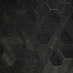 Lamborghini Murcielago Hexagon Feature Black textured Wallpaper 3D Geometric