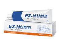 EZ NUMB Tattoo Body Piercings Waxing Laser Numbing Cream 30g TUBE 5% Lidocaine