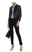 NWT walter baker annarae jacket black leather size M