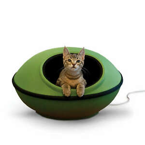 """K&H PET PRODUCTS 5382 Green/Black THERMO-MOD DREAM POD LARGE GREEN/BLACK 22"""" ..."""