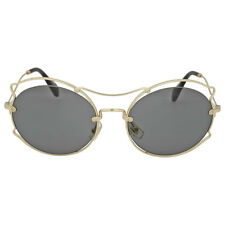 Miu Miu Pale Gold Round Metal Sunglasses