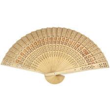 Chinese Folding Bambus Original Holz geschnitzt Hand Fan fit Hochzeit Party GW
