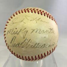 Rare 1951 Mickey Mantle Rookie & Ted Williams Signed Autograph Baseball JSA COA