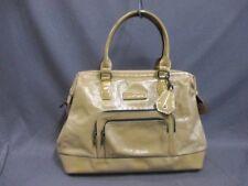 Auth LONGCHAMP Legend Doctors Bag LightBrown Patent Leather Shoulder Bag