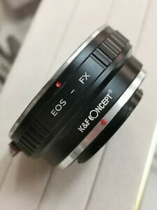 K and F concept EOS-FX Lens Mount Adapter for -Canon EOS EF EF- -Fujifilm FX