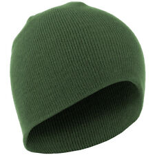 New Mens Army TACTICAL Style Watch Cap Beanie 100% ACRYLIC Knit OLIVE