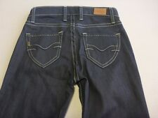 046 WOMENS NWOT PEPE JEANS LONDON PRECIOUS NAVY STRETCH JEANS 25 ( 6 AUS ) $250.