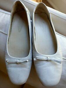 SANTONI CLUB Shoes Flats Loungewear White Italian Leather 40/9.5 Italian
