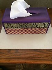 Elephant Tissue Box Holder   Purple