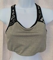Victoria's Secret PINK Ultimate Medium Support Unlined Gray Sports Bra - Size L