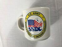 Army Coffee Mug VTG 1993 Cup SSDC Space Strategic Defense Command Drink USA 90s