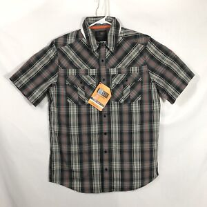 5.11 Tactical NWT Mens Size S Gray Volcanic Double Flex Covert Button-Snap Shirt