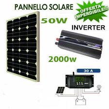 Kit Fotovoltaico 1 KW Pwm Inverter 2000W Pannello Solare 50W