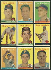 (3945) 1958 Topps Baseball Part set in pages missing 107 cards with list VGEX