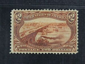CKStamps: US Stamps Collection Scott#293 $2 Mint HR OG CV$1900