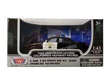 MOTOR MAX 1:43 1999 FORD CROWN VICTORIA CALIFORNIA HIGHWAY PATROL (CHP) 79454A