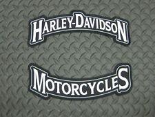 HARLEY DAVIDSON MOTORCYCLES LARGE ROCKER PATCH