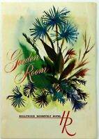 1960's Menu Mailer HOLLYWOOD ROOSEVELT HOTEL Garden Room Restaurant Los Angeles