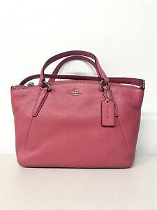 NWT Coach Mini Kelsey Pebble Leather Purse Handbag F57563 -Strawberry/SV