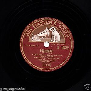 GB No.1 May 1955 Alma Cogan 78 RPM Dreamboat / Irlandais Mambo Hmv B 10872 E