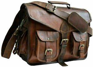 New Women's Satchel Real Vinatge Leather Briefcase Messenger Laptop UNISEX Bag