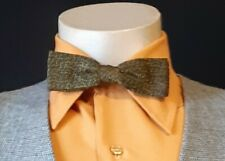 Vintage Bow tie, green/mustard, USA, By 'Ormond'