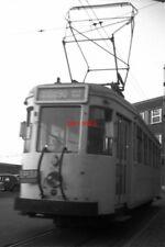 PHOTO  BELGIUM TRAM 1958  MONS SNCV N CLASS TRAM CAR  ON ROUTE 90